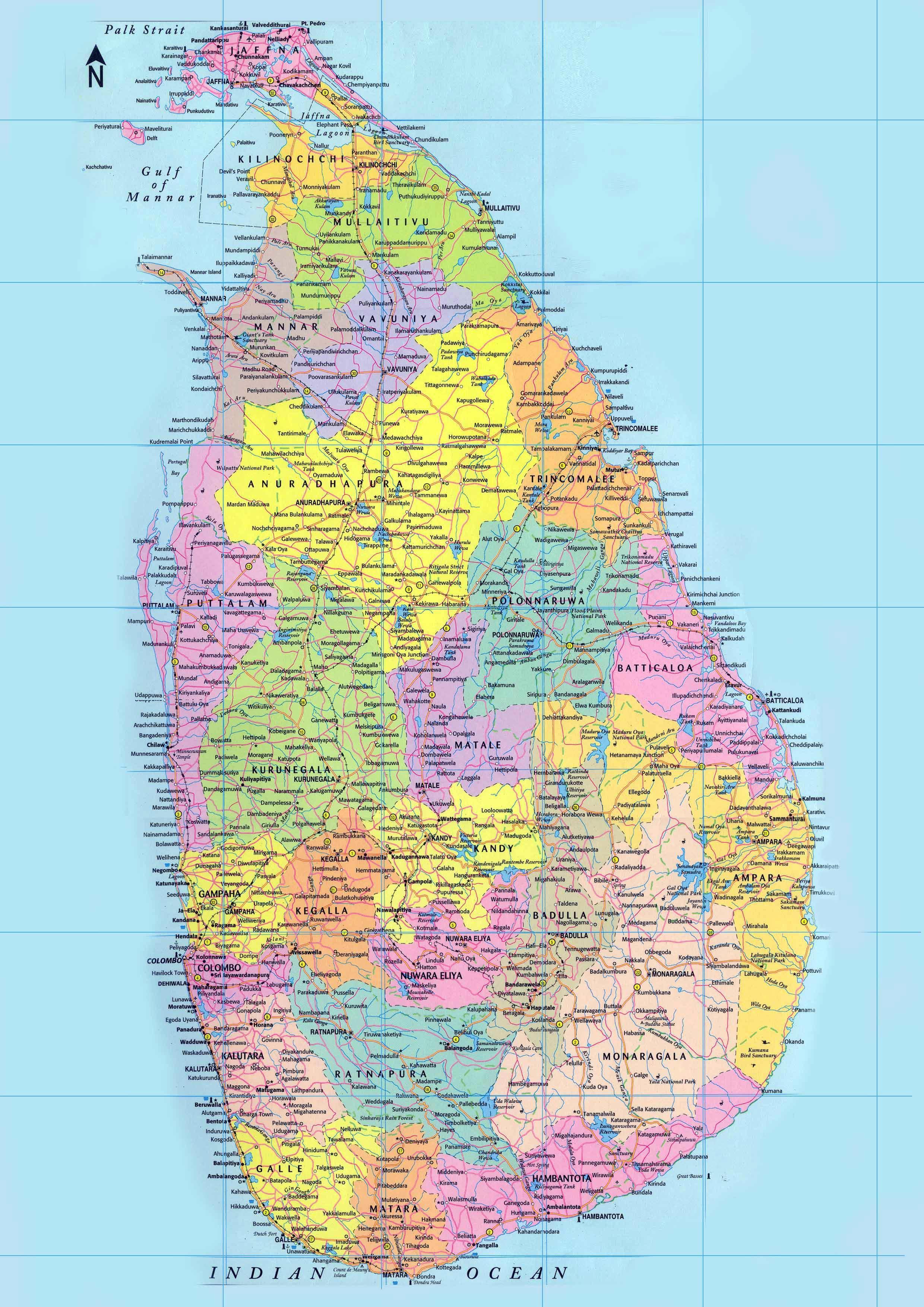 Sri Lankan Kartta Sinhala Yksityiskohtainen Kartta Sri Lankan