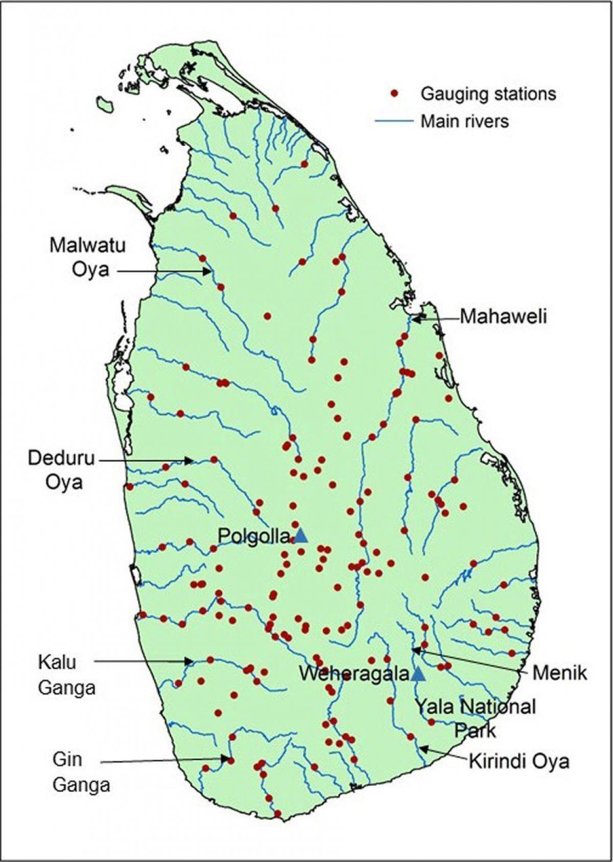 Mahaweli Joen Kartta Sri Lanka Nayta Kartta Mahaweli Joen Kartta
