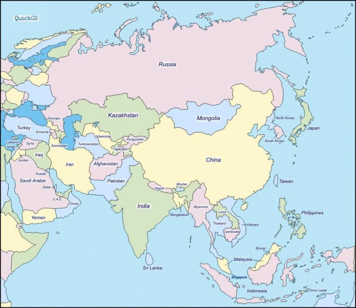 Sri Lankassa Maan Kartta Kartta Sri Lankan Ja Lahialueen Maissa