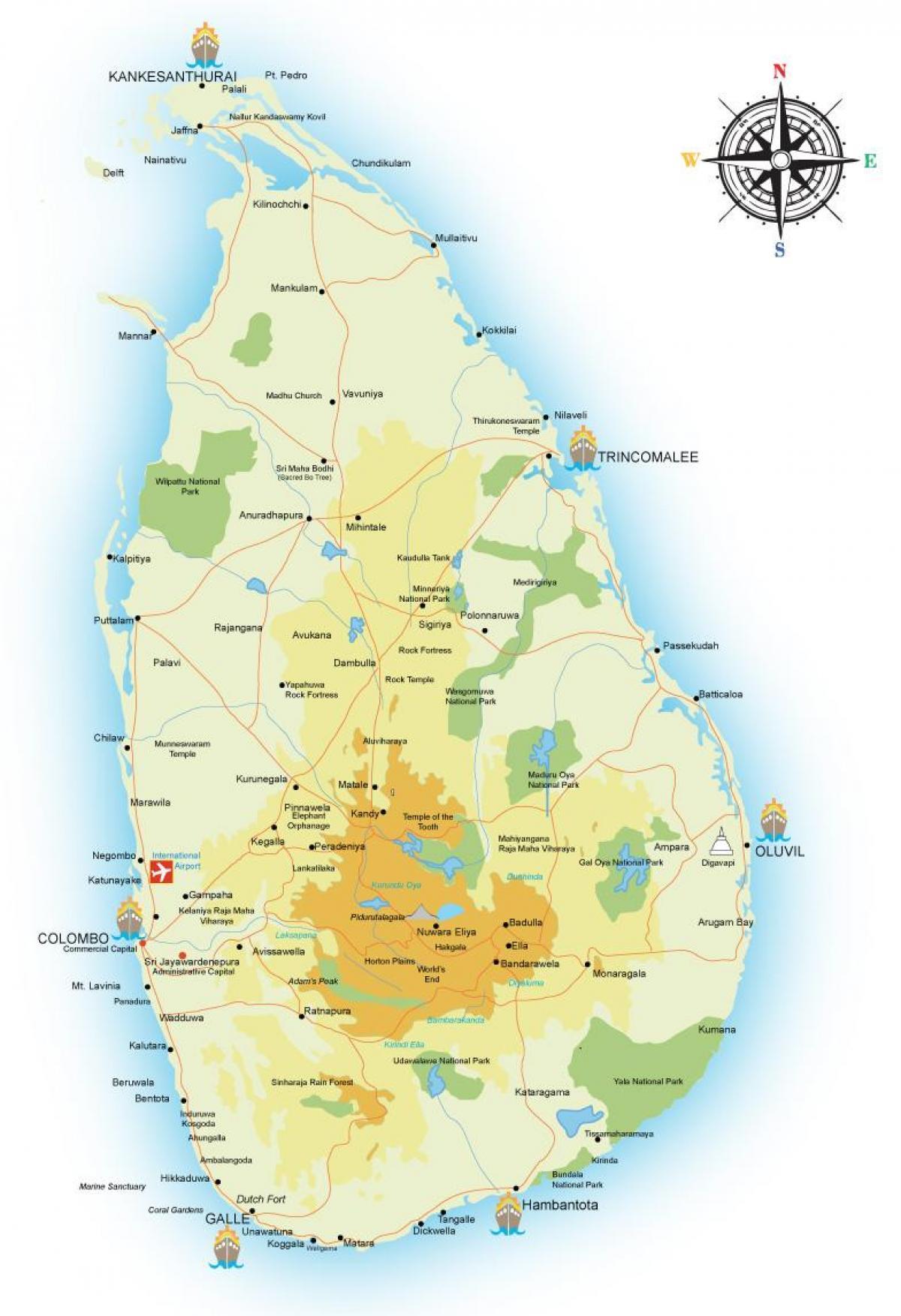Sri Lanka Portit Kartta Kartta Sri Lanka Ports Etela Aasia Aasia